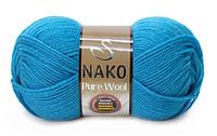Nako Pure Wool бірюзовий № 2815