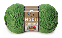 Nako Pure Wool зелений № 5300