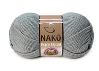Nako Pure Wool сріблясто-сірий № 11207