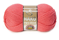 Nako Pure Wool кораловий № 11208