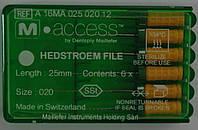 Эндодонтический инструмент н-файлы m-эксес 25мм №20