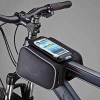 Велосипедная сумка Roswheel велосумка на раму, телефон 4.8-5.5, 1.8L