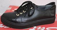 Женские туфли на шнурках на толстой подошве, женские туфли кожаные от производителя модель СТТ09, фото 1