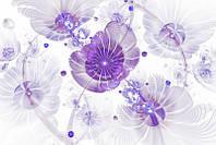 3D фотообои: Фиолетовые цветы