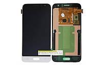 Дисплейний модуль (дисплей + сенсор) Samsung j120 Amoled original білий