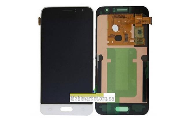 Дисплейний модуль (дисплей + сенсор) Samsung j120 Amoled original білий, фото 2