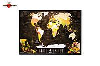 Скретч-карта мира My Map Chocolate Edition