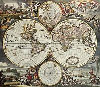 Фотообои: Карта Мира Средневековье