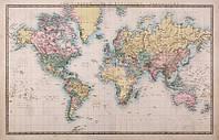 Фотообои: Карта мира историческая