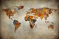 Фотообои: Креативная карта мира