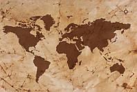 Фотообои: Карта мира на пергаменте