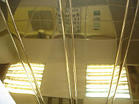 Алюминиевый реечный потолок золото металлик