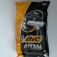 Станок для бритья мужской одноразовый BiC Metal 10 шт. бик металл Оригинал