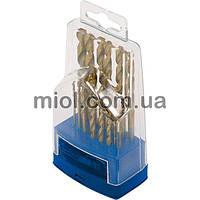 Набор сверл по металлу Р6М5 титан. 25шт, 1,0-13,0мм (металл. коробка)