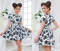 Женское летнее платье с пышной юбкой