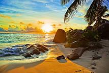Фотошпалери Захід сонця на пляжі