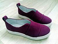 Слипоны мокасины из дорогой замши качество люкс, осенняя обувь из замши