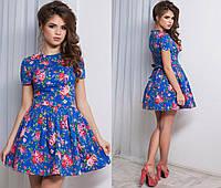 Женское летнее платье с пышной юбкой в разных цветах