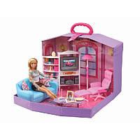 """Мебель для кукол """"Гостиная""""  ( в чемодане)"""