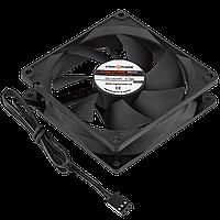 Вентилятор корпусной LogicPower F9NB, 3pin (питание), цвет-черный, DC12V, 0.16A, 1.92 Вт, 2000RPM, 22dB, Втулка (скольжения), Ресурс 30000 часов,.