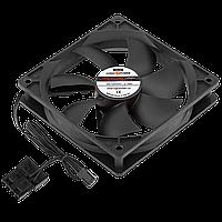 Вентилятор LP F12NBD, 120MM, 3pin + 4pin (Molex питание), black ТМ Logicpower