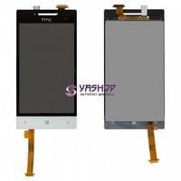 Дисплей HTC Windows Phone 8S A620e Domino с сенсором (тачскрином) белый