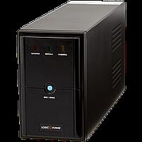 ИБП LPM-U825VA, USB-порт, 2 евророзетки, 3 ступ. AVR, 9Ач12В. металлический корпус. Цвет черный.
