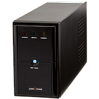 ИБП LPM-U1250VA, USB-порт, 3 евророзетки, 3 ступ. AVR, 2x7.5Ач12В, металлический корпус, Черный цвет.