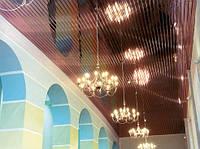 Алюминиевый реечный потолок медь
