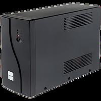 004. ИБП LogicPower U650VA, USB-порт, 2 евророзетки, 5 ступ. AVR, 7.5Ач12В, металлический корпус, Черный цвет