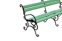 Скамейка зеленая