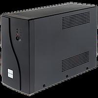 008. ИБП LogicPower U850VA, USB-порт, 2 евророзетки, 5 ступ. AVR, 8.5Ач12В, металлический корпус, Черный цвет.
