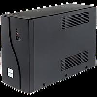 012. ИБП LogicPower U1200VA, USB-порт, 2 евророзетки, 5 ступ. AVR, 2x7.5Ач12В, металлический корпус, Черный цв.