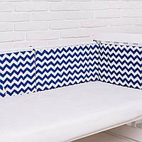 """Бортик  в кроватку для новорожденного """"Синяя волна"""" Еlfdreams"""