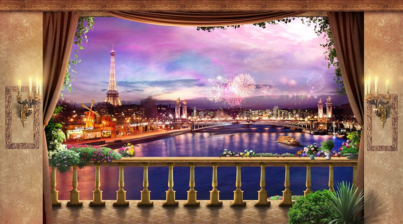 Фотообои Праздник в Париже