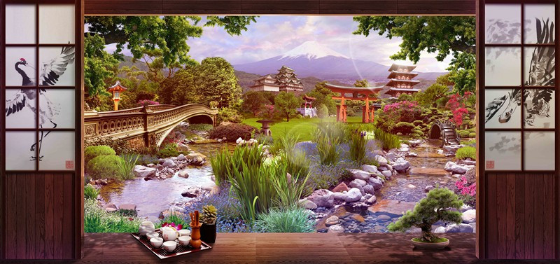 Фотообои Чай по японски