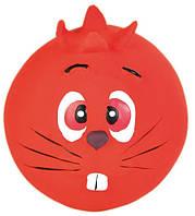 Мяч Trixie Face Toy Ball для собак латексный, с пищалкой, 6 см, фото 1