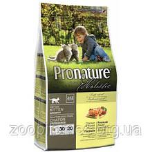 Сухой корм для котят Pronature Holistic (Пронатюр Холистик) с курицей и бататом, 2,72 кг