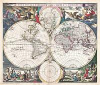 Фотообои Новая карта полушарий
