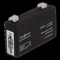 Аккумулятор AGM  LPM 6-1,3 AH ТМ Logicpower