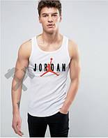 Майка для мальчика белая Jordan Джордан (большой принт)