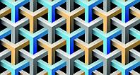 3D фотообои: Переплетение цвета