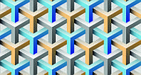 3D фотообои: Кубическая структура