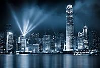 Фотообои Здание с прожекторами