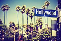 Фотообои Дорожный знак Голливуд