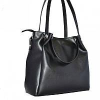Женская сумка стильная черная  из кожзама М130-63
