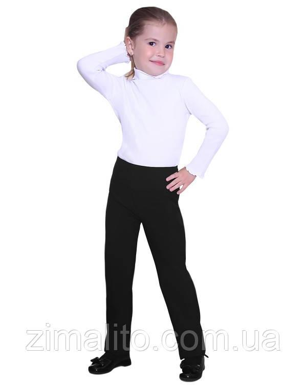 Брюки на кокетке черные для девочки
