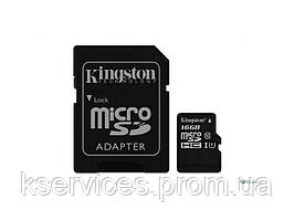 Картапамapos;ятиmicroSDmicroSDHC16GBClass10SDadapter(SDC10G2/16GB)ТМKings