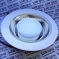 LED Светильник встраиваемый COB 30W 3000К (круг) алюминий 2700Lm