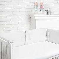 """Бортик  в кроватку для новорожденного """"Серая полосочка"""" Еlfdreams"""